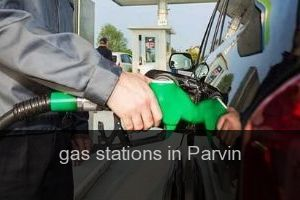 Gas stations in Parvin